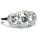 Leverington Handmade Platinum Diamond Engagement Halo Three 3 Stone Ring