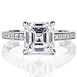 Leverington Handmade Platinum & Asscher Cut Diamond Engagement Ring