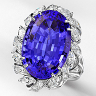 Leverington Platinum Diamond & Tanzanite Ring
