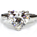 Platinum & Heart Shaped Diamond Engagement Ring Solitaire