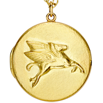 18K Pegasus Locket