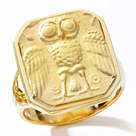 Leverington 18K Owl Ring