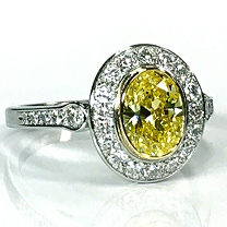 Leverington Platinum Canary Diamond Ring