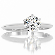 Leverington Platinum & Diamond Engagement Ring