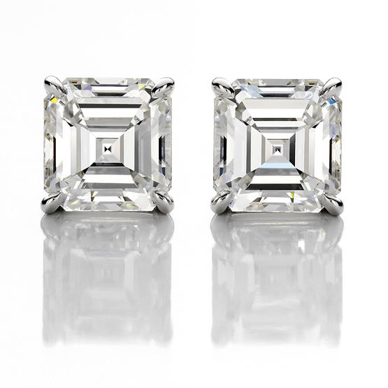 Handmade Platinum & 3.22 ct. Diamond Earrings